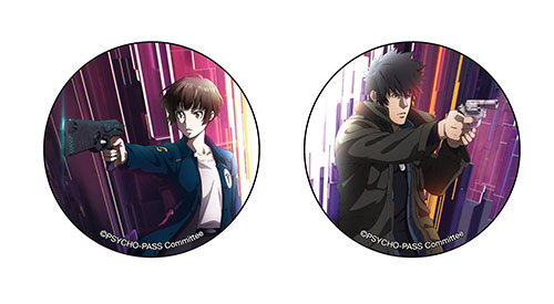 PSYCHO-PASS -サイコパス-/PSYCHO-PASS サイコパス Sinners of the System/リアル謎解き捜査ゲーム × PSYCHO-PASS SS On the Ship 缶バッジ(頭身) 常守・狡噛セット